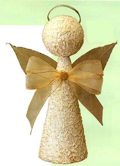 Anjo decoração de natal com material reciclável……….. « Decore & Inove