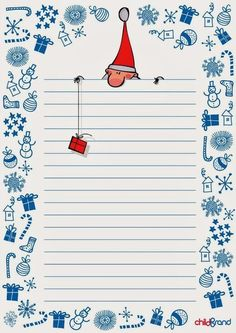 Wunschzettel für Kinder – Rebel Without Applause Christmas Writing, Christmas Paper, Winter Christmas, Christmas Crafts, Stationary Printable, Diy And Crafts, Paper Crafts, Christmas Stationery, Funny Illustration