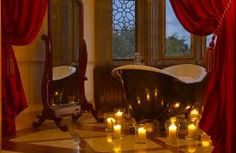 Every room in Adare Manor is worthy of the Dunravens' grand legacy of beauty and luxury. Book your accommodation at the Adare Manor today! Romantic Bathtubs, Romantic Bathrooms, Romantic Room, Romantic Night, Luxury Bathrooms, Romantic Homes, Red Bathroom Decor, Modern Bathroom, Bathroom Ideas