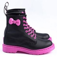 HelloKitty Dr.Martens Combat Boots | LUUUX --so cute for my little one!