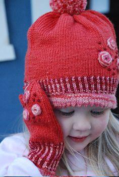 Ravelry: Sugarplum Hat & Mitten Set #272 pattern by Tanis Gray - free pattern