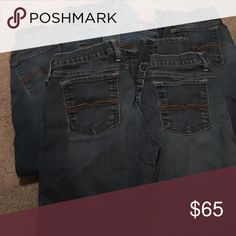 "6 pairs of Lucky Brand ""Charlie"" jeans All have short inseam - show signs of wear such as fading at the knees.  All skinny jeans except one pair is a ""Charlie Straight"" Lucky Brand Jeans Skinny"