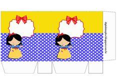 Sacolinhas para Festa de Aniversário Gratuitas para Imprimir. Party Printables, Free Printables, Castle Clipart, Snow White Disney, Paper Purse, Milk Box, Party Favor Bags, Baby Party, Printable Paper