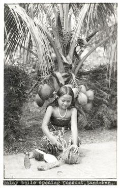 1920s Malaysia - Coconut Girl