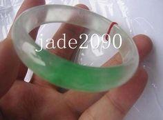 FREE SHIPPING   real Natural green white  jade Good by jade2090, $62.99