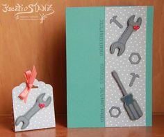 Kreativ-Stanz Hammer Stempelset von Stampin' Up! Framelits Werkzeugkasten Männerkarte #stampinup #man http://kreativstanz.bastelblogs.de/