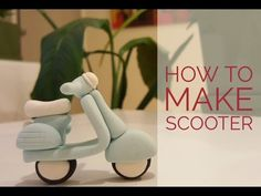 Hi all, you may have seen how to make scooter tutorial at Clayitnow website. We've added the easier version in this video tutorial. Fondant Flower Cake, Fondant Bow, Fondant Cake Toppers, Fondant Cakes, Fondant Figures Tutorial, Cake Topper Tutorial, Polymer Clay Miniatures, Polymer Clay Crafts, Vespa Cake