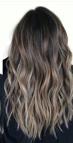 140 ombre hair looks that diversify common brown and blonde ombre hair 112 Hair Blond, Brunette Hair, Dark Hair, Hair Color Balayage, Hair Highlights, Ashy Brown Hair Balayage, Ashy Hair, Bayalage, Blonde Ombre
