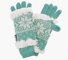 MukLuks 3-in-1 Weather Resistant Snowflake Knit Glove