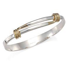 Ed Levin Bracelets BR267 - GRAND SIGNATURE BRACELET - Sterling Silver with 14K Gold - Hawkins House Craftsmarket, Bennington, VT