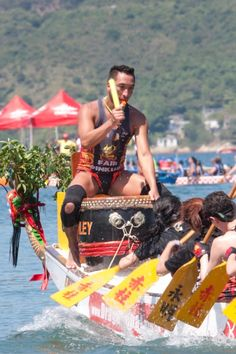 Fire Services team in Hong Kong. Sunny is a well known drummer for his choice of tiny speedos!