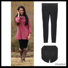 Chino Legging in Black by Simpy Noelle | Ladies Fashion Boutique | Why Not Envy Me? Boutique and Gift Shop