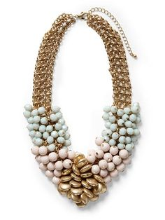 Piperlime | Pastel Beaded Cluster Necklace