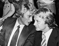 Johnny Hallyday et Claude François.