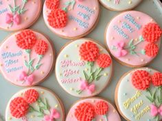 decorated cookies | 23~「5.11mother's day 母の日アイシングクッキー」販売 ...