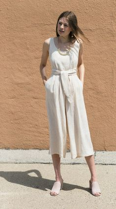 No. 6 Beach Alice Jumpsuit & Aesa Bronze Ridge Chestplate