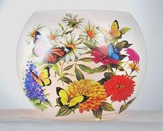 Stony Creek Butterfly Collection Lighted Oval Vase
