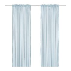 Brand new VIVAN LIGHT BLUE curtains panels) from IKEA of Sweden. Lovely lightweight curtains, perfect for layering. Curtains With Blinds, Drapes Curtains, Window Coverings, Window Treatments, Light Blue Curtains, Beautiful Curtains, Moving House, Shopping, Lights