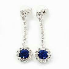 Drop Earrings, Blue, Jewelry, Fashion, Moda, Jewlery, Jewerly, Fashion Styles, Schmuck