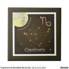 Capricorn 22 december fin 20 schaner Fotofliese Kleine Quadratische Fliese