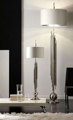 Chrome Plated Iron Pipes Floor Lamp | instyle-decor.com