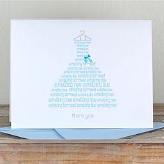 bridal shower thank you cards bridal shower thank you notes thank you cards bridal shower something blue