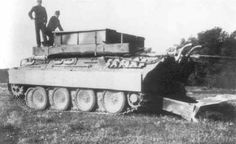 A Bergepanther V tank at work