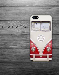Red Volkswagen Minibus  VW Minibus  Minibus 01   Iphone by PiXCATO, $10.99