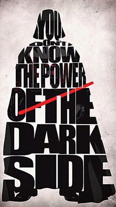 "darth vader movie phrases | Darth Vader Typography Wallpaper. It is created using the quote ""You ..."