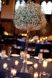Baby's Breath centerpiece love!