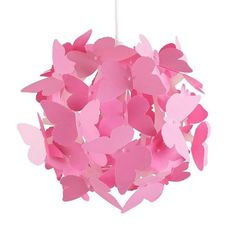 Shop for Modern Globe Design Ceiling Pendant Light Shade With Decorative Pink Butterflies. Starting from Choose from the 2 best options & compare live & historic home lighting and lamp prices. Girls Chandelier, Modern Chandelier, Chandelier Bedroom, Ceiling Light Shades, Ceiling Lights, Lampe Rose, Teen Girl Decor, Butterfly Bedroom, Contemporary Lamp Shades