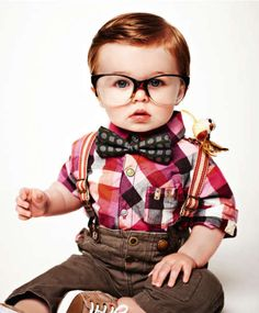 Those glasses are almost bigger than his whole face! im pretty sure my husband will wanna do something like this to our baby