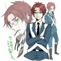 Hetalia-Scotland // Scotland, you're not supposed to look hot with glasses. (I said that out loud on accident and decided to type it in my description. Scotland Hetalia, Latin Hetalia, Hetalia England, Hetalia Axis Powers, A Series Of Unfortunate Events, Anime Guys, Fangirl, Kawaii, Animation