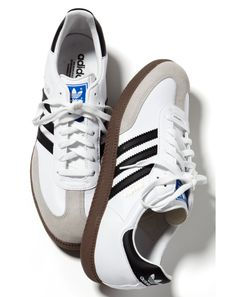Classic Adidas Sambas in white