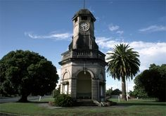 As a way of commemorating those who had died in the Great War, public clocks were built by four New Zealand communities – Blenheim, Waipawa, Waverley and Taradale. This one in Taradale was unveiled in December 1923 and remained undamaged by the . Kiwi, Clocks, New Zealand, Landscapes, December, Art Deco, Public, Building, Beautiful