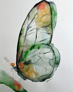 — (via Green butterfly watercolor art, original.Bellasecretgarden — (via Green butterfly watercolor art, original. Painting & Drawing, Watercolor Paintings, Nature Paintings, Watercolor Paper, Watercolours, Painting Walls, Wall Drawing, Green Watercolor, Watercolor Animals