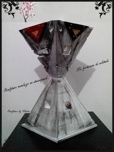 Sculpture moulage en steampunk. La forteresse de solitude de la boutique LamaisonEt666 sur Etsy