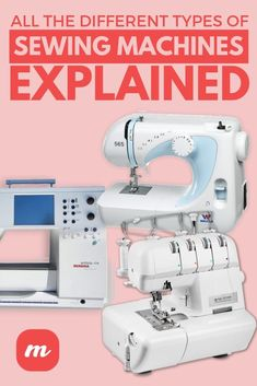 Buying a sewing machine can be daunting when you realize how many different types there are. There's a machine for every skill level and every project. Different brands, needles, and more. But this article will break down all the different kinds of machines you can buy. Then you can do those fabric projects you've been wanting to do. Check it out!  #sewing #crafts Sewing Hacks, Sewing Crafts, Sewing Tips, Make Your Own Blanket, Types Of Machines, Sewing Machine Reviews, Hawaiian Quilts, Types Of Stitches, Different Types