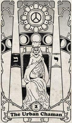 Tarot 108: 02 - The Urban Chaman by SKoziner