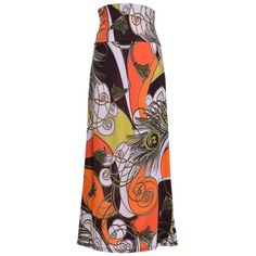VIV Collection Women's Poly Span Printed Full Maxi Skirt ($12) ❤ liked on Polyvore featuring skirts, ankle length skirts, maxi skirt, floor length skirts and long skirts