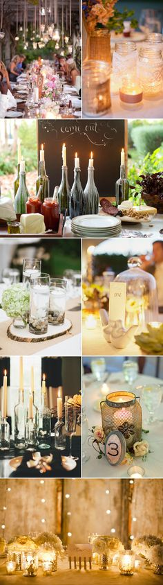 17 Wedding Table Decor Ideas with Candles