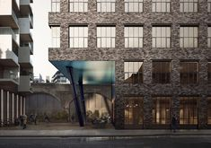 A contemporary office building in Bankside London Timber Panelling, Timber Flooring, Exposed Concrete, Exposed Brick, Contemporary Office, Contemporary Design, Commercial Street, Cladding, Design Process