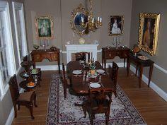 Georgian dolls' house interior