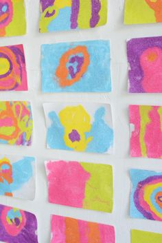 gorgeous process art activity for kids Art Activities For Kids, Preschool Art, Colored Sand Art, Process Art, Creative Play, Stickers, Let's Create, How To Make, Colored Sand