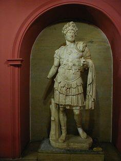 Emperor Hadrian, Roman statue (marble), 2nd century AD, (Antalya Müzesi, Antalya).