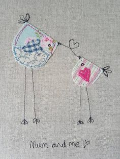 Read information on mothers day cards diy handmade Freehand Machine Embroidery, Free Motion Embroidery, Machine Embroidery Projects, Free Machine Embroidery, Hand Embroidery Patterns, Embroidery Designs, Fabric Cards, Fabric Postcards, Fabric Gifts