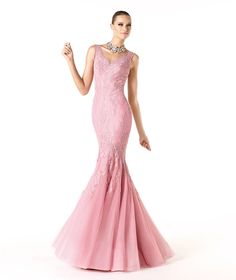 Sexy Trumpet/Mermaid Straps V-neck Lace Floor-length Tulle Cocktail Dresses_1