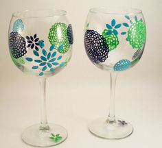 #painted#glassware