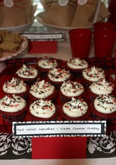 Twilight Party Cupcakes- red velvet with cream cheese frosting :)