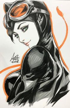 Art Vault — Catwoman by Artgerm Comic Book Characters, Comic Character, Comic Books Art, Comic Art, Batman Und Catwoman, Batman Art, Batgirl, Heros Comics, Comics Girls